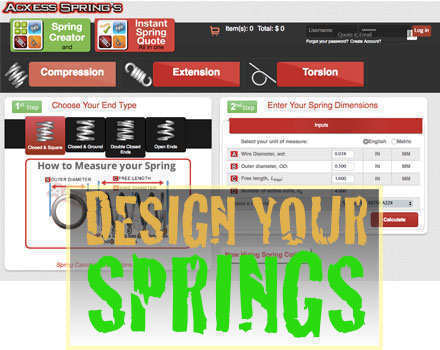 acxess spring technology compression spring calculator