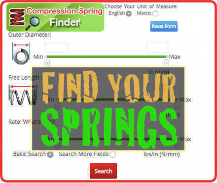 Stock Springs - Over 24,000 Springs in Stock - Quality