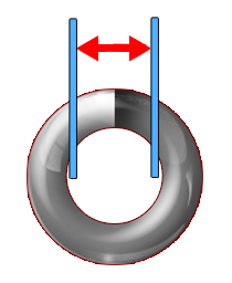 a coil with lines and arrows signaling where the inner diameter is