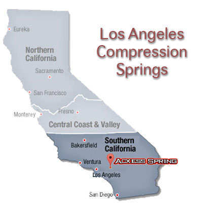 state of California showing the location of Acxess Spring Company