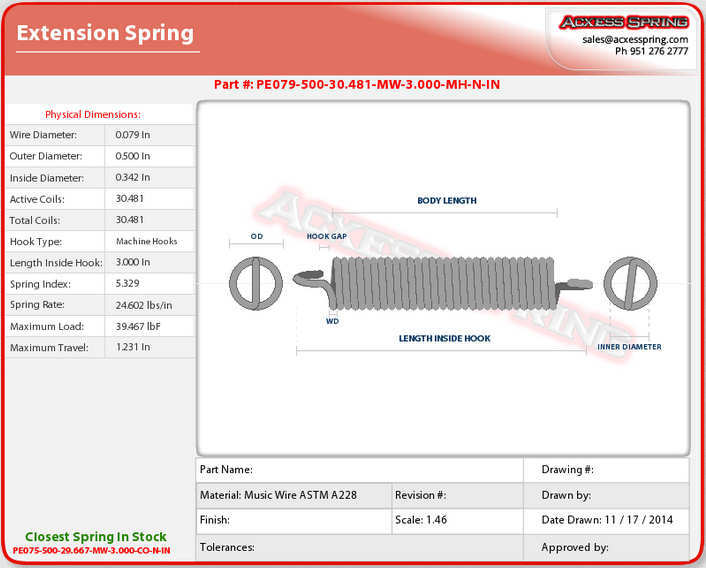 Ac Unit Prices >> Extension Spring Design Technical Information - Quality Spring, Affordable Prices