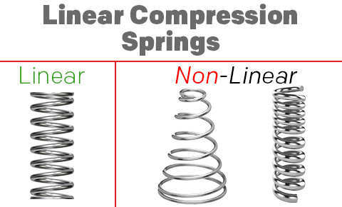 linear compression springs vs. non linear compression springs