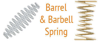 open coil barrel and barbell spring applications