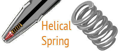 open coil helical spring pen application
