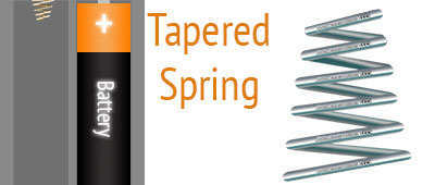 open coil tapered conical spring application