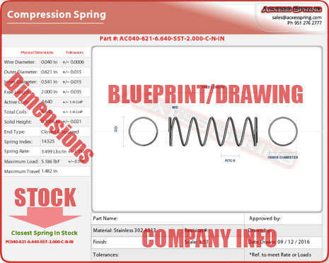 Spring Blueprint/Drawing