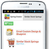 spring calculator app email design, get a quick quote, or buy stock springs