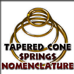tapered conical spring