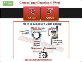 Torsion Spring Calculator Step 1