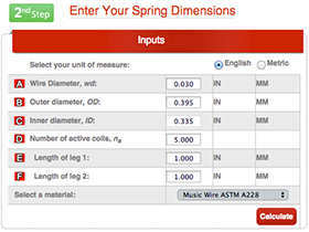 Torsion Spring Calculator Instructions Quality Spring